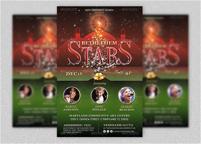christmas concert flyer template