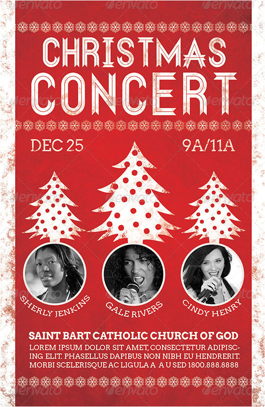 Christmas Concert Flyer Template Free Christmas Concert Flyer Template On Behance