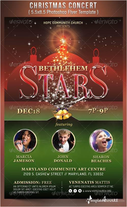 6941 graphicriver christmas concert flyer template