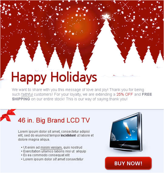 17 beautifully designed christmas email templates for marketing your products