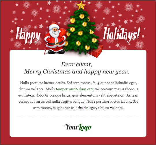 Christmas Email Templates for Outlook Messages 17 Beautifully Designed Christmas Email Templates for