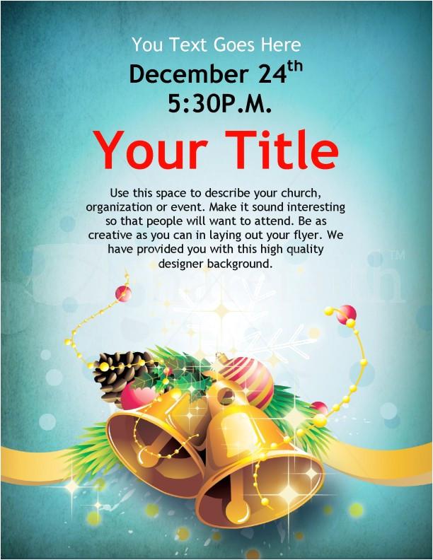 christmas bells flyer template