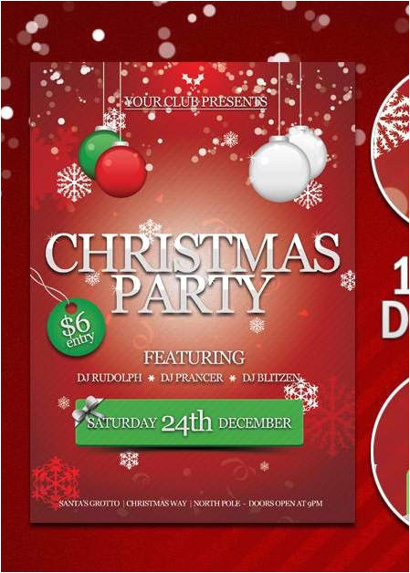 christmas flyer template free