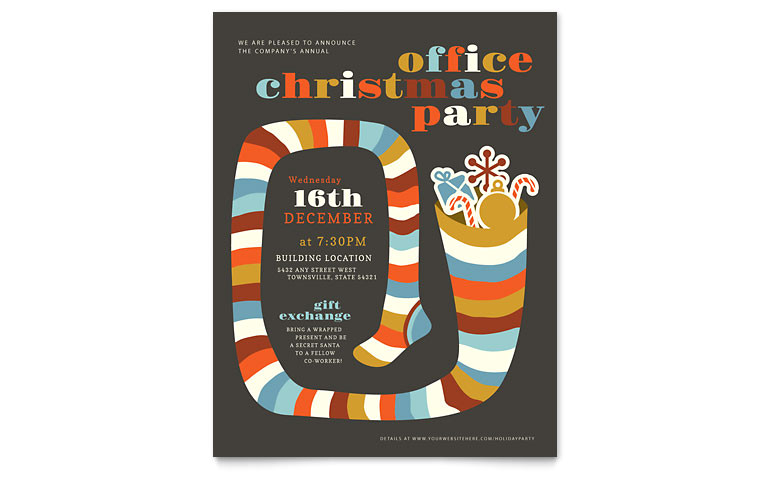 Christmas Flyer Templates for Publisher Christmas Party Flyer Template Word Publisher