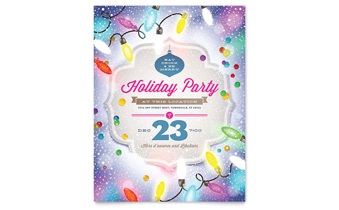 holiday party flyer templates xx1531501d