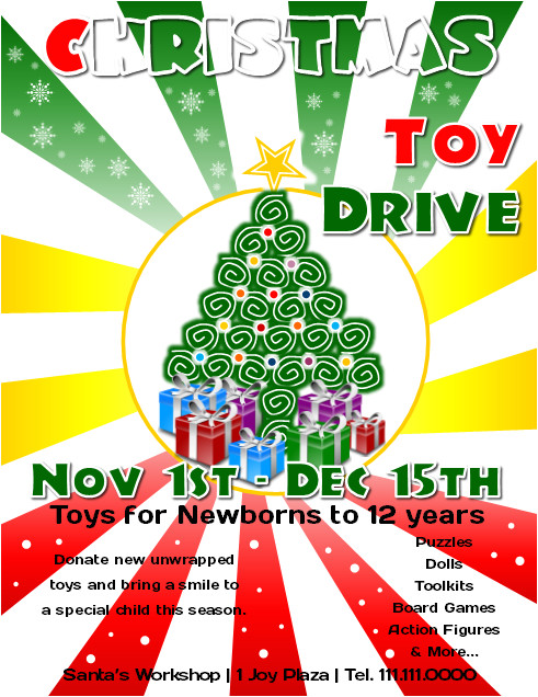 microsoft publisher christmas toy drive flyer tutorial1
