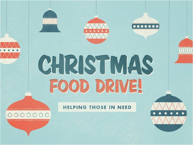christmas food drive ministry flyer