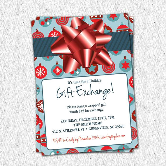 christmas holiday gift exchange party