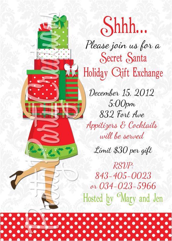 secret santa holiday gift exchange