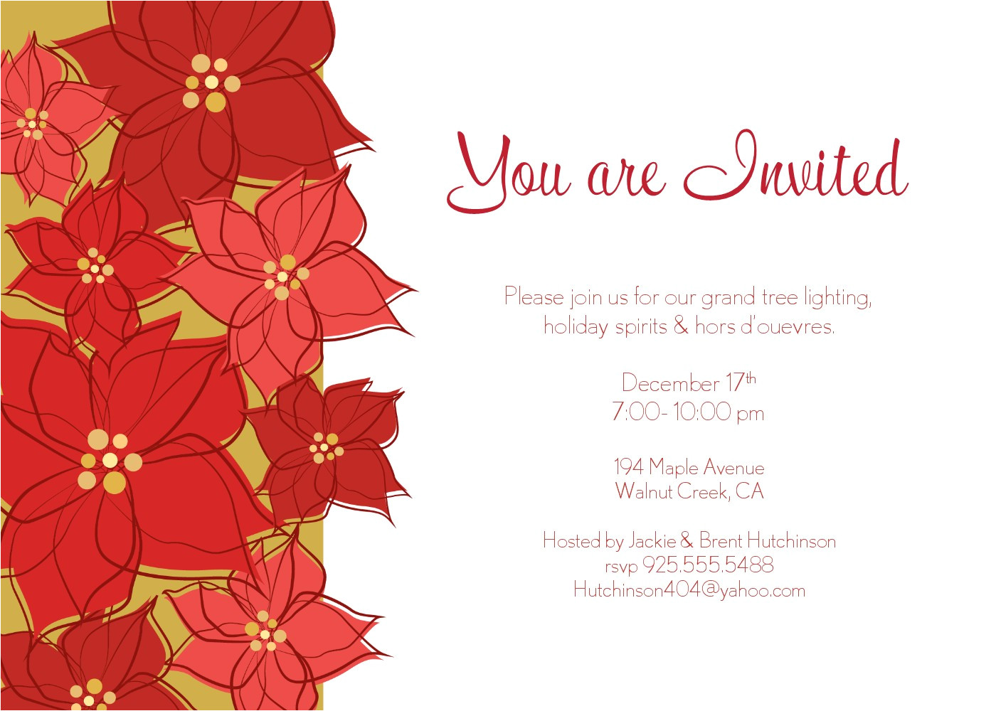 Christmas Holiday Party Email Invitation Template for Outlook Christmas Invitations for Outlook Party Invitations Ideas