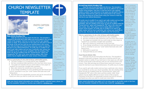 Church Email Templates Best Church Newsletter Template 10 Free Sample Example