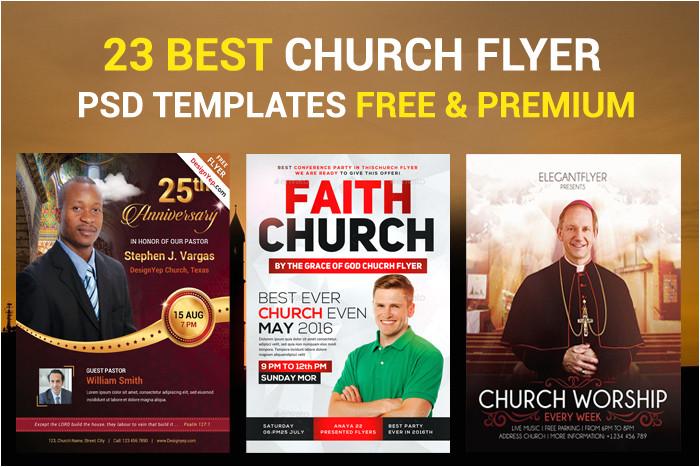 free church flyer psd templates