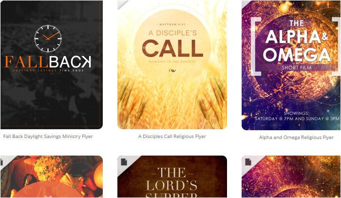 5 free church flyer templates