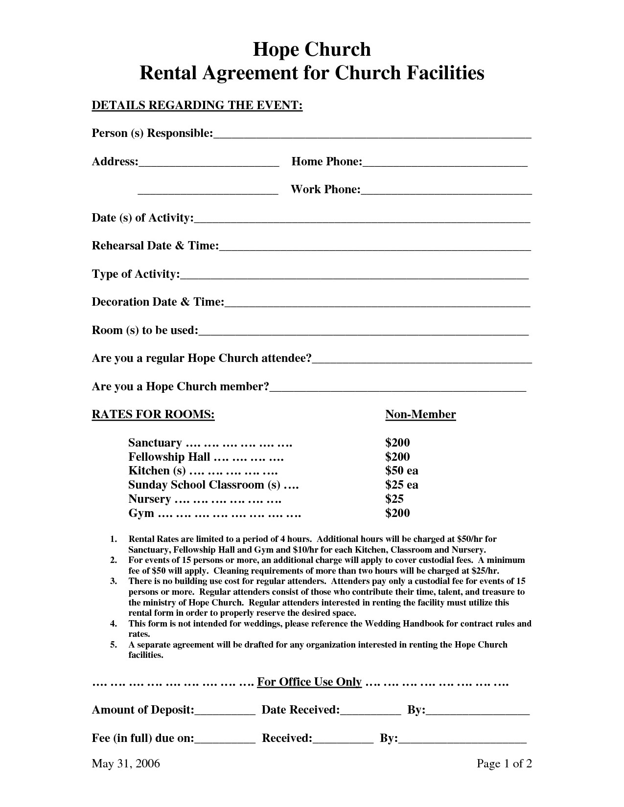 51313 facility use agreement