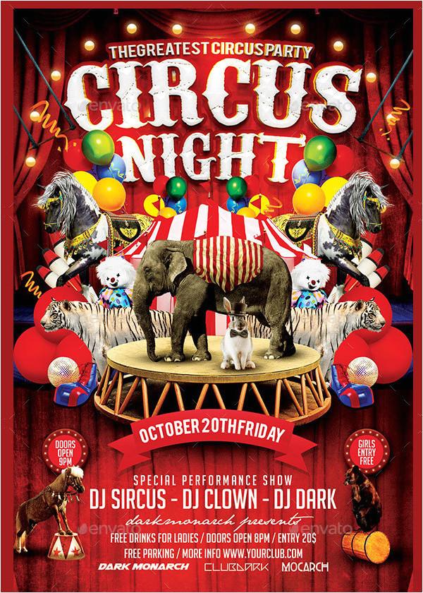 circus flyer templates