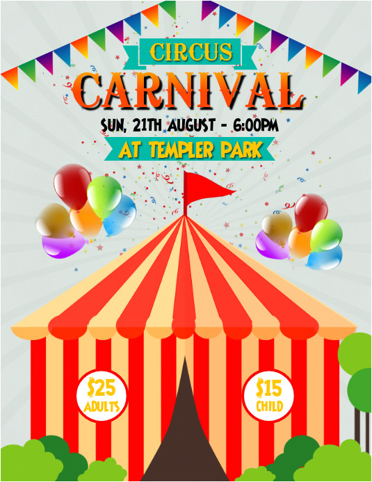 circus carnival poster template