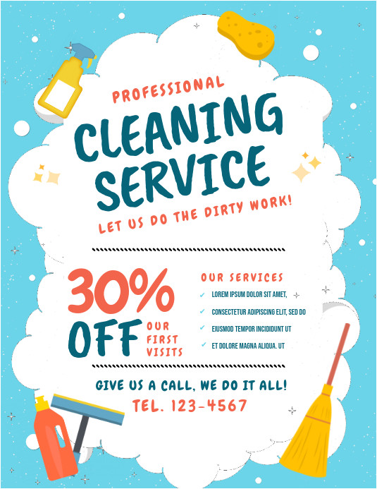 cleaning flyer template design