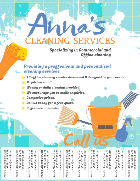 Cleaning Company Flyers Template Copy Of Cleaning Service Flyer Template Postermywall