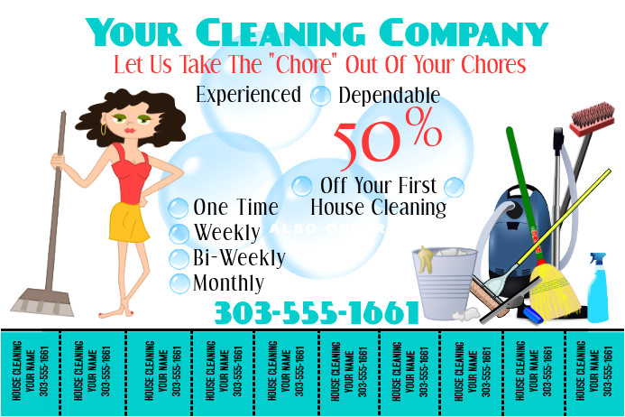 home cleaning flyers