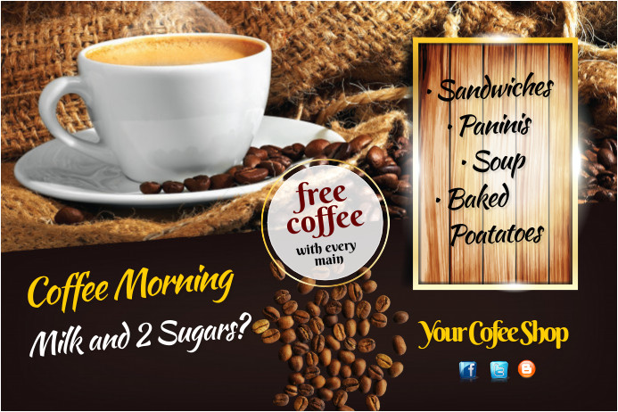 coffee morning flyer template