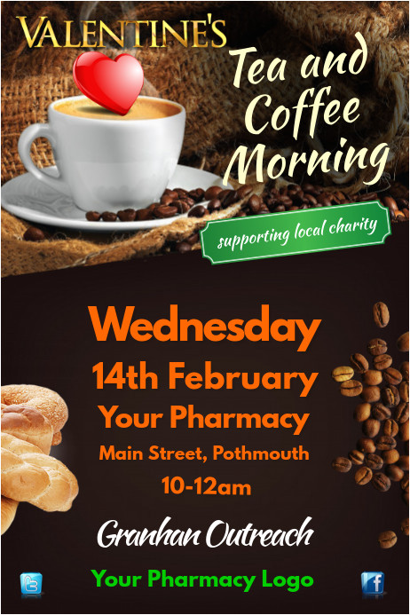 Coffee Morning Flyer Template Free Tea and Coffee Morning Flyer Template Postermywall
