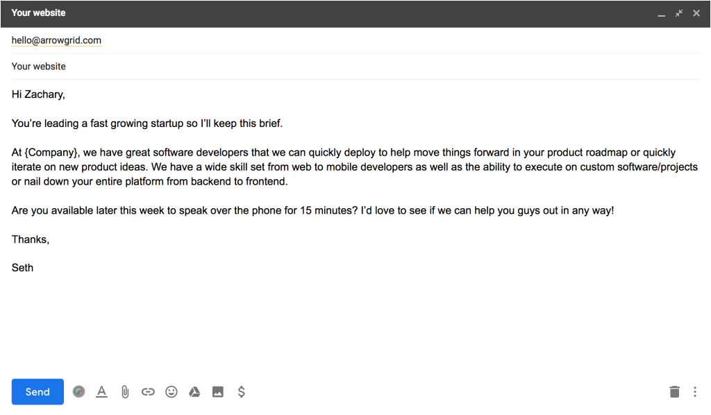 b2b cold email templates