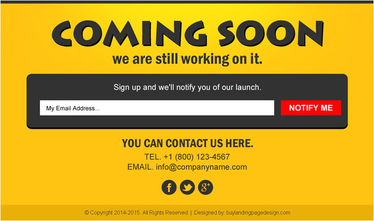 coming soon landing page design templates