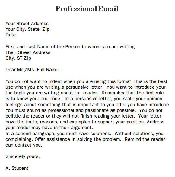 professional email format templates