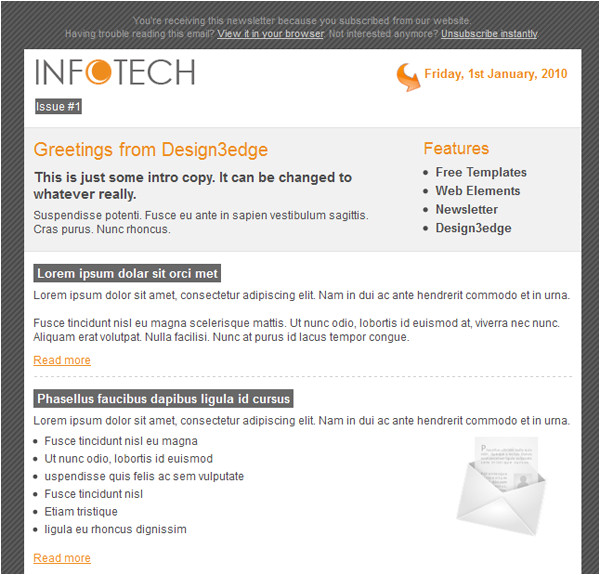 professional free email template