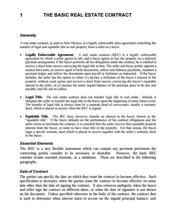 Commercial Real Estate Sales Contract Template 14 Real Estate Contract Templates Word Pages Docs