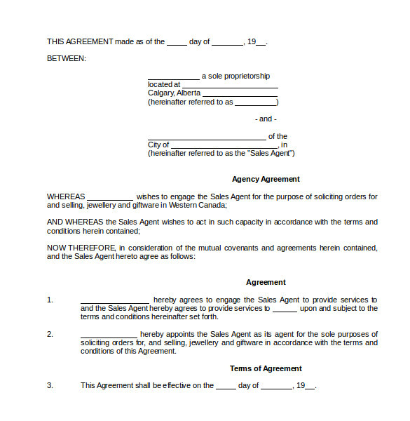 Commision Contract Template Free Commission Contract Template 12 Download Free Documents