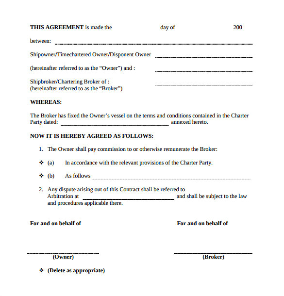 commission contract template