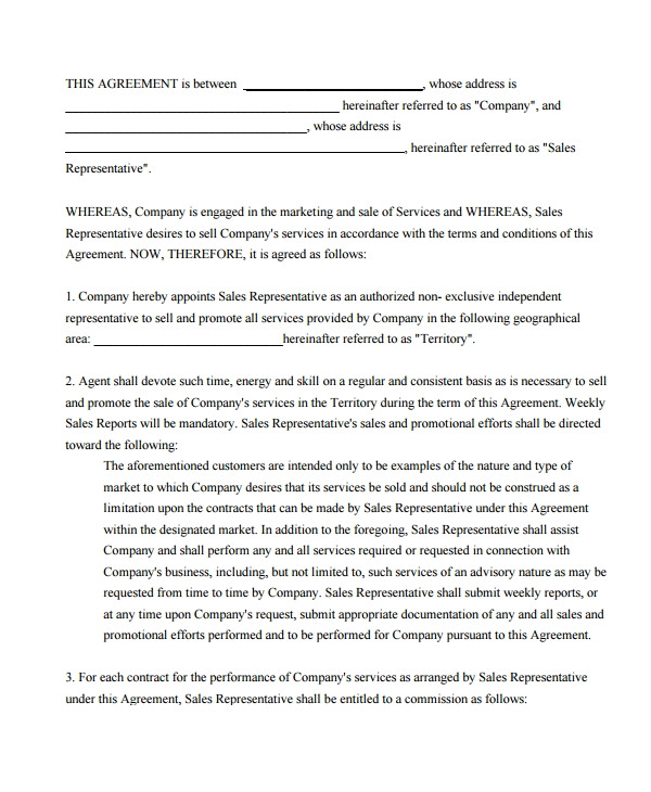 Commission Only Contract Template 9 Commission Sales Agreement Templates Word Pdf Pages