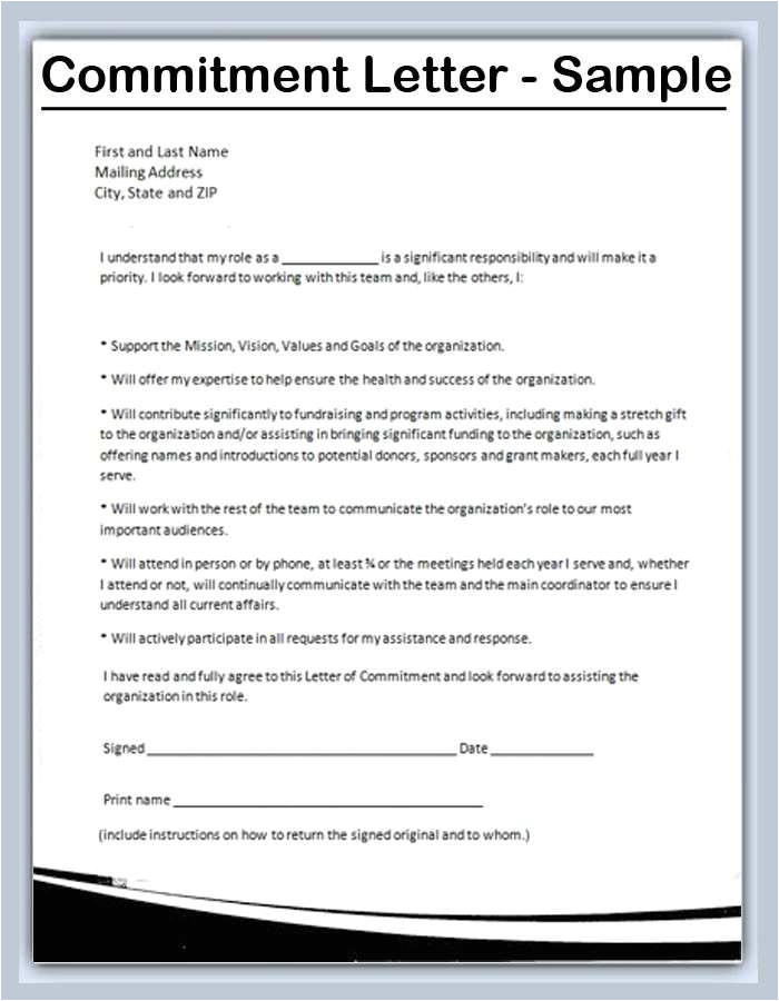 81745 commitment agreement template