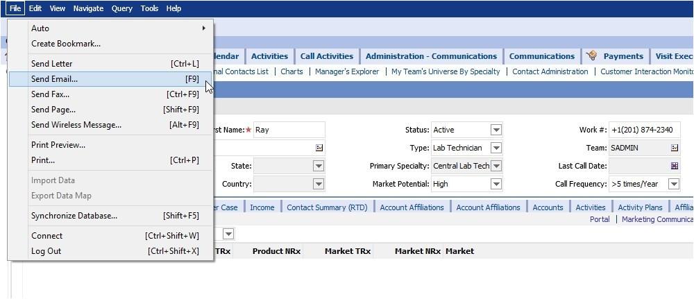 export siebel communication templates using escript