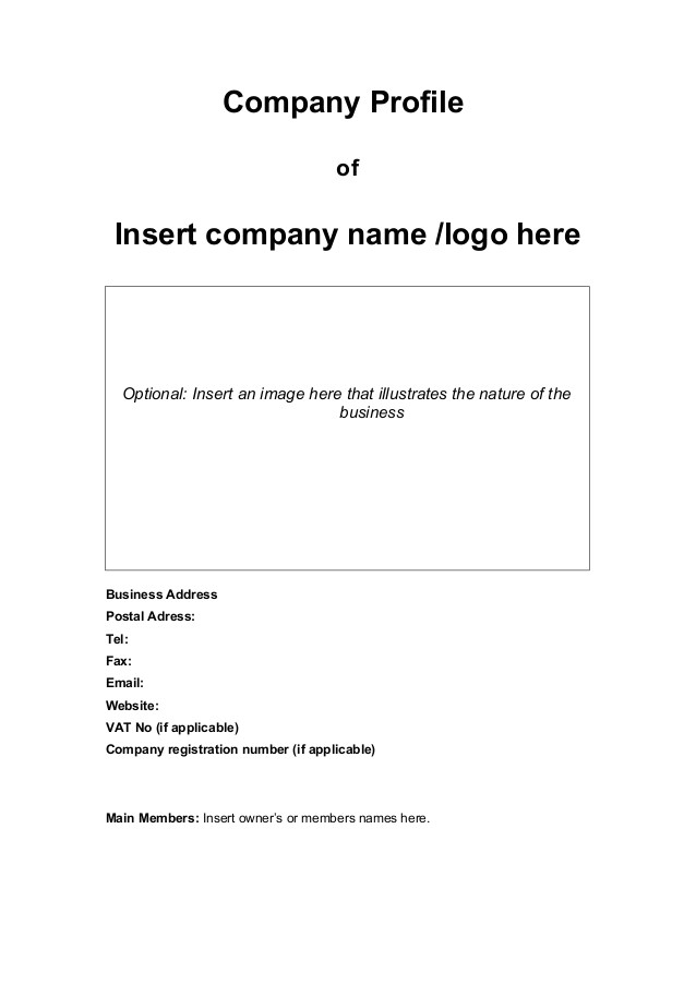 Company Profile Email Template Company Profile Template