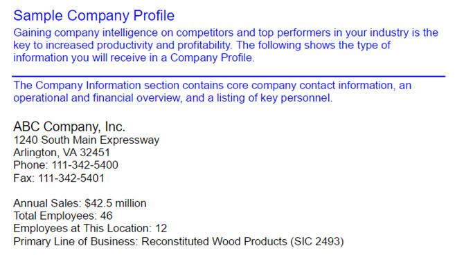 company profile templates
