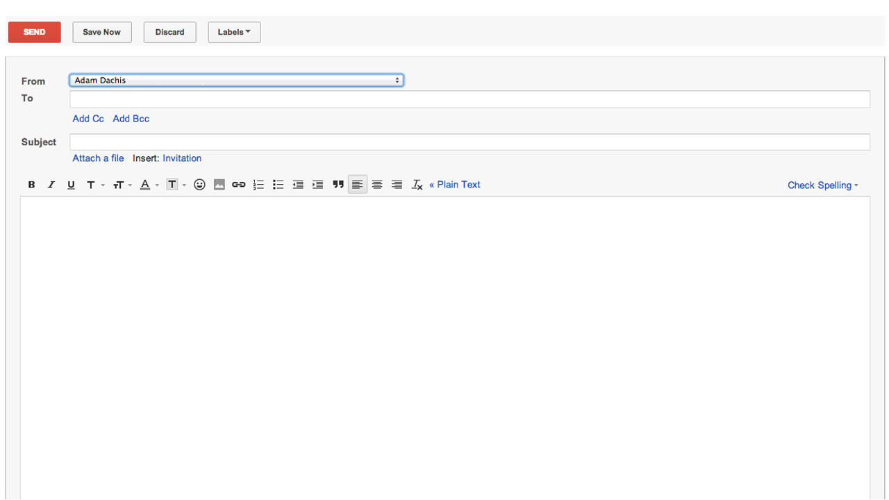 open compose takes you straight to gmails new email window