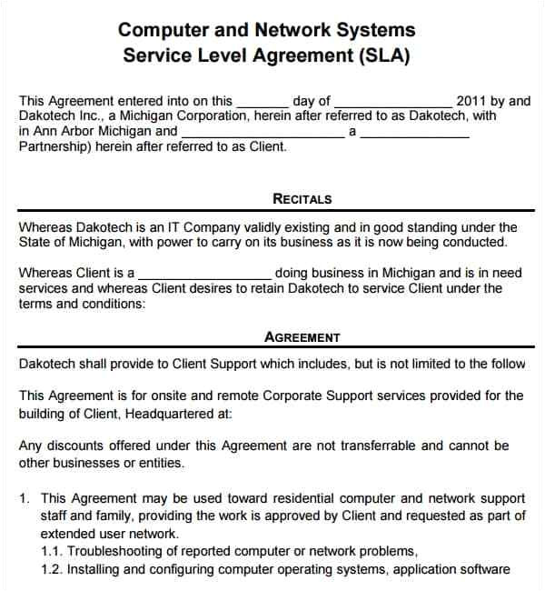 Computer Service Contract Templates Download Free Contract Templates Word Pdf Agreements