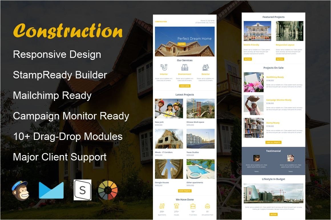 509997 construction email template