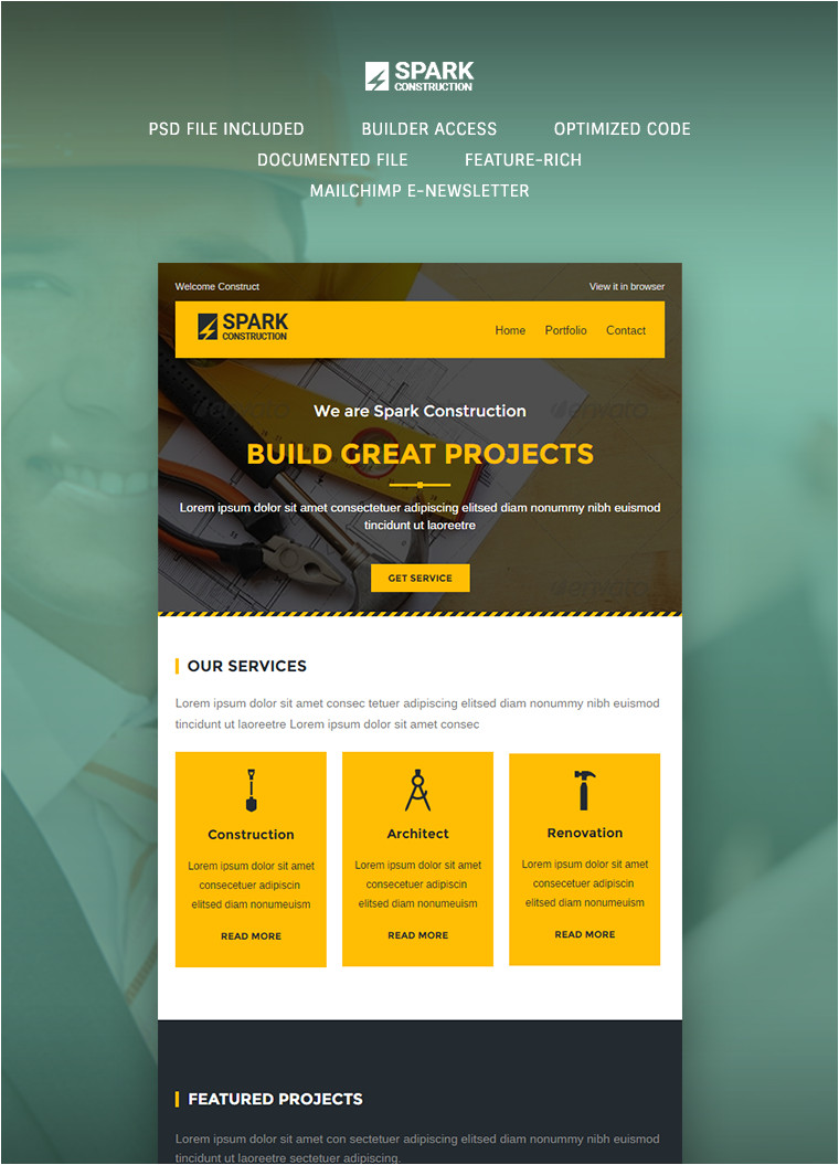 spark email template