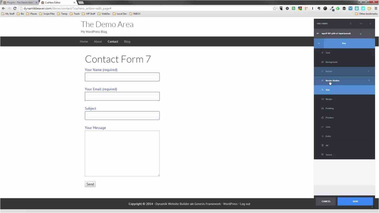 contact form 7 email template
