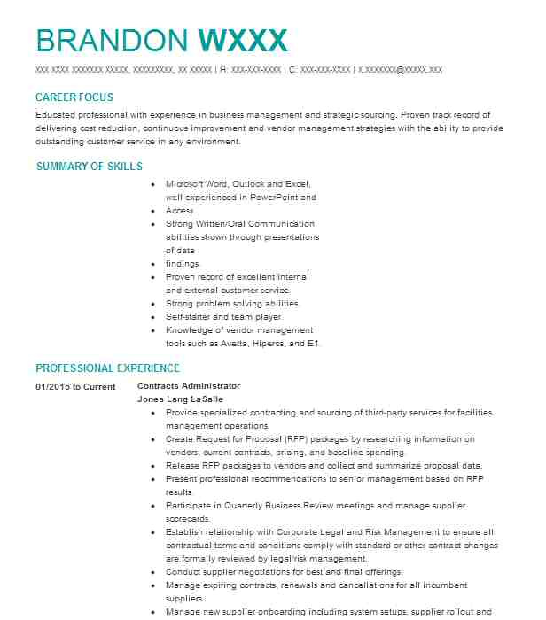 contracts administrator