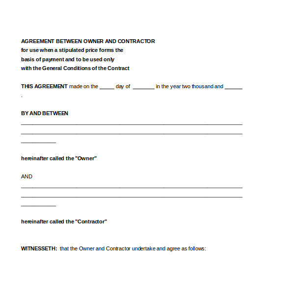 Contract Agreement Template Free Contractor Agreement Template 23 Free Word Pdf Apple