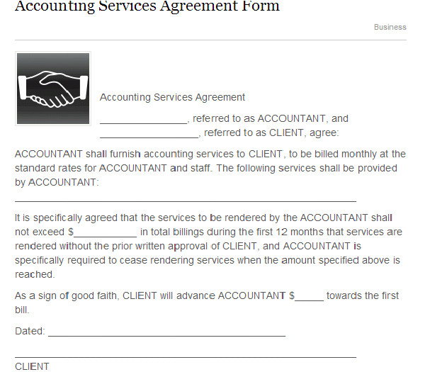 accounting services agreement form