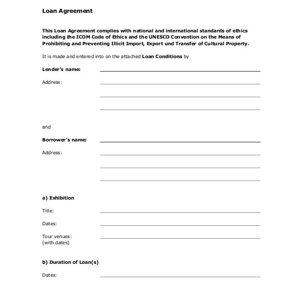 loan agreement template