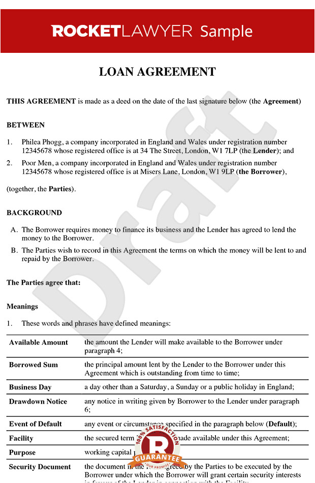 loan agreement rl