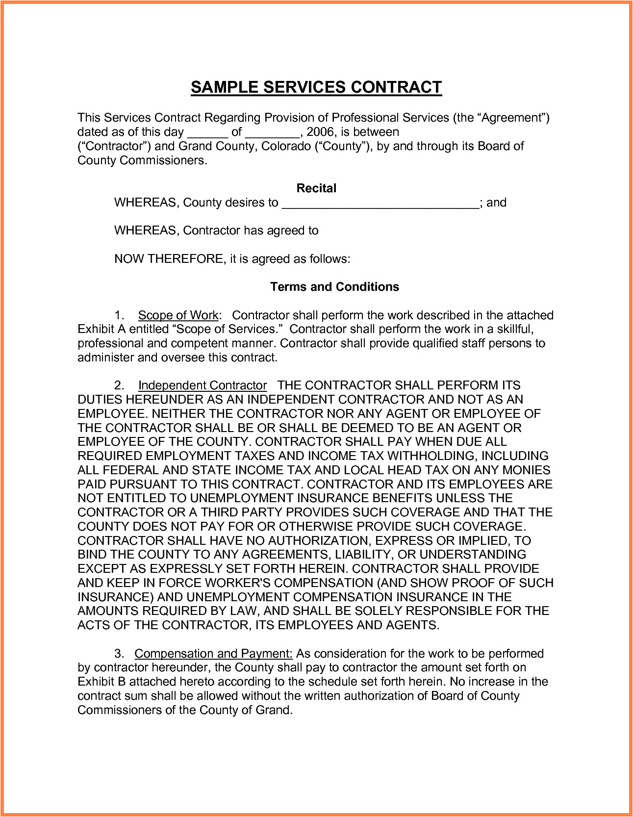 Contract for Provision Of Services Template 6 Provision Of Services Agreement Template Purchase