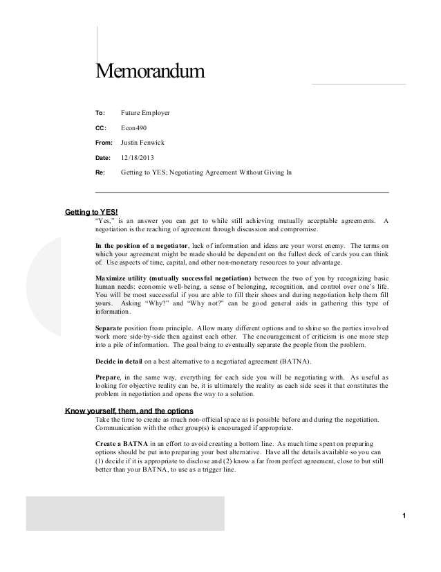 7289 negotiation agreement template