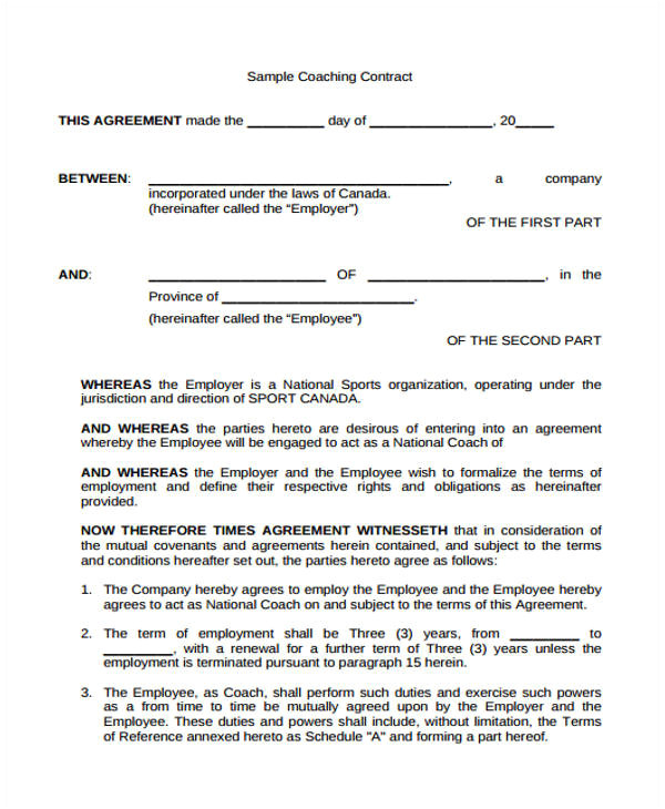 contract agreement form template